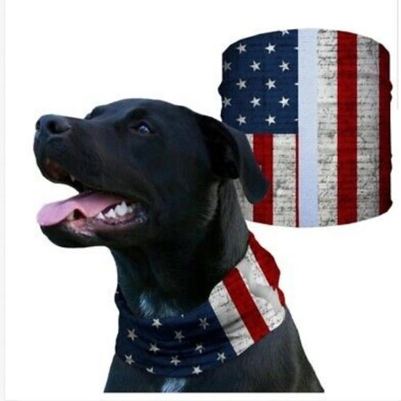 SA COMPANY Other - Reflective American Flag Dog Shield Bandana Scarf